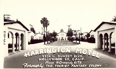 Harrington Motel - Hollywood,California Photo Postcard Front