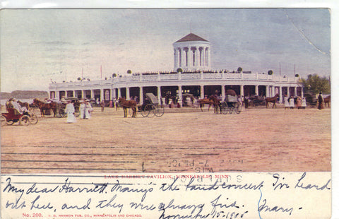 Lake Harriet Pavilion-Minneapolis,Minnesota UDB Post Card - 1