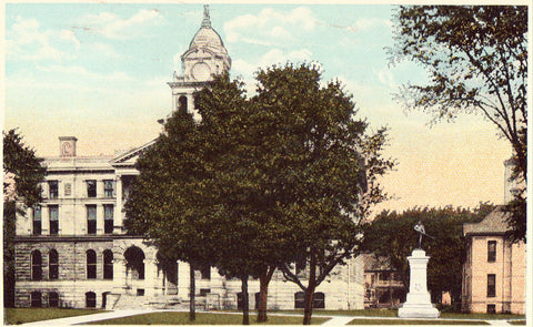 Court House and Jail - Ionia,Michigan.Vintage postcard front