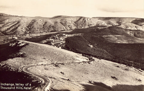 Inchanga,Valley of A Thousand Hills - Natal,Namib,Africa front of photo postcard