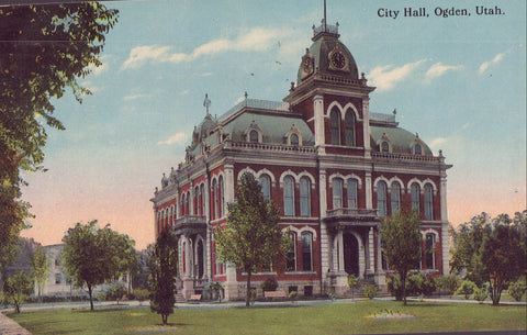 City Hall-Ogden,Utah 1915 - Cakcollectibles - 1