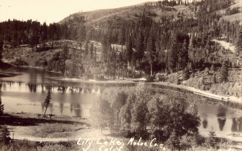 Lily Lake - Modoc Co.,California Real Photo Postcard