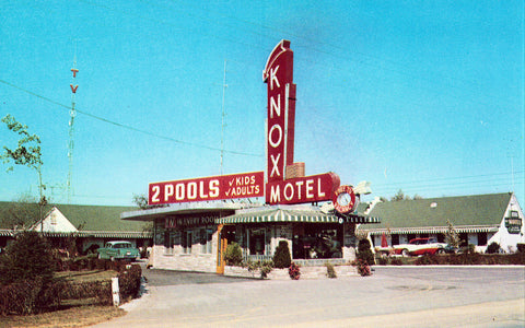 Vintage Postcard Front Knox Motel - Knoxville,Tennessee