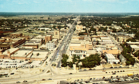 Aerial View of Gulfport,Mississippi Vintage Postcard Front