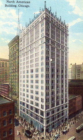 North American Building - Chicago,Illinois Antique Postcard Front