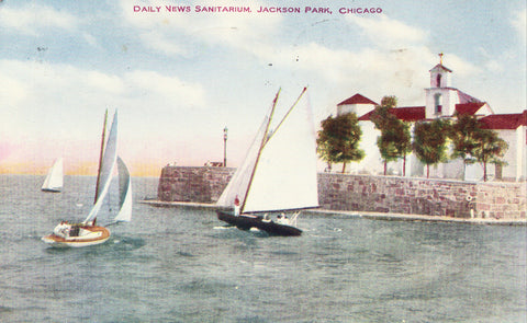 Daily News Sanitarium - Jackson Park,Chicago,Illinois Postcard Front