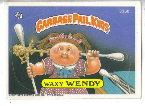 Garbage Pail Kids 1987 #335b Waxy Wendy Garbage Pail Kids