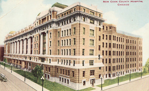 New Cook County Hospital - Chicago,Illinois Vintage Postcard Front