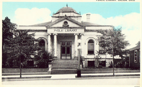 Public Library - Galion,Ohio Old Postcard Front