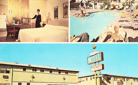 Vintage Postcard Front The Cloud Motel - Lakewood,California