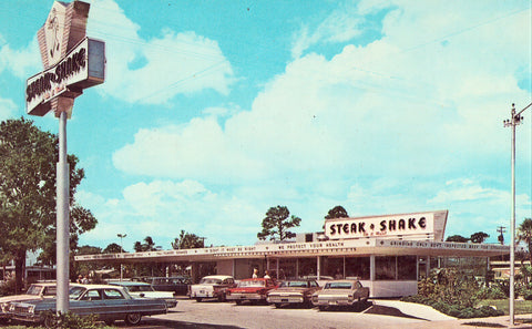 Steak N Shake - St. Petersburg,Florida Vintage Postcard Front