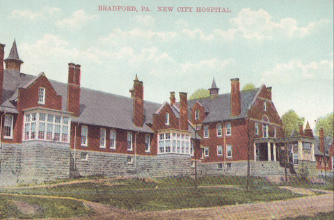 New City Hospital-Bradford,Pennsylvania 1910 - Cakcollectibles - 1