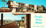 Pacific View Motel - San Diego,California Front of vintage postcard for sale