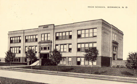 High School - Bismarck,North Dakota.Old postcard for sale front