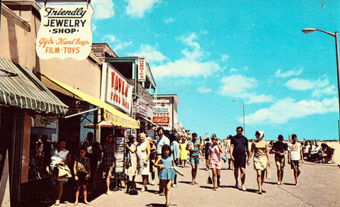 The Friendly Gift Shop - Ocean City,Maryland.Front of vintage postcard for sale