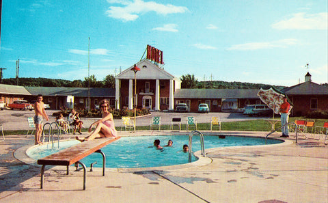 Vintage postcard front view.General Lafayette Motel - King of Prussia,Pennsylvania