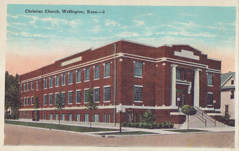 Christian Church-Wellington,Kansas 1919 - Cakcollectibles - 1