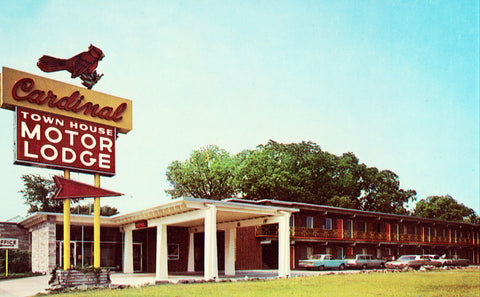 Cardinal Town House Motor Lodge - Florence,South Carolina.Vintage postcard front