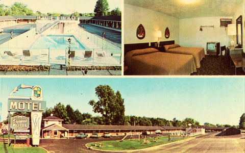 Sherwood Motel - Youngstown,Ohio.Vintage postcard front
