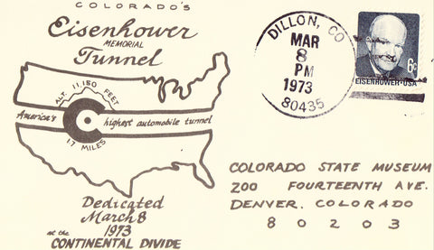 Eisenhower Memorial Tunnel - Dedication Postcard