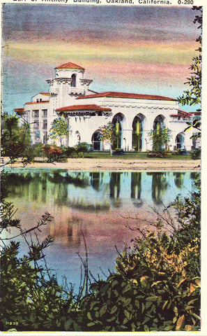 Earl C. Anthony Building - Oakland,California.Vintage Postcard Front
