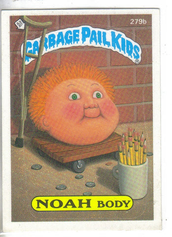 Garbage Pail Kids 1987 #279b Noah Body Garbage Pail Kids