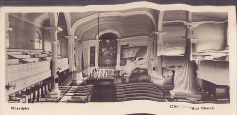 RPPC-Interior View-Christ Church-Philadelphia,Pennsylvania - Cakcollectibles - 1
