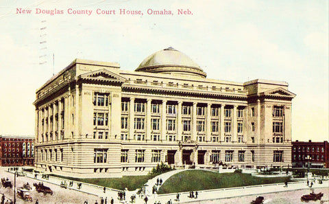New Douglas County Court House - Omaha,Nebraska.Vintage postcard front