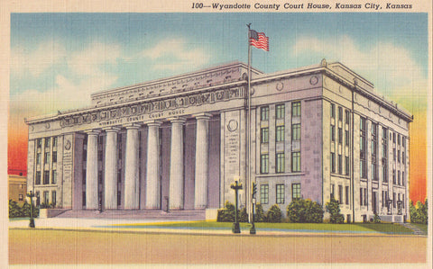 Wyandotte County Court House-Kansas City,Kansas - Cakcollectibles - 1
