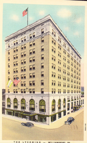 The Lycoming - Williamsport,Pennsylvania.Linen postcard front