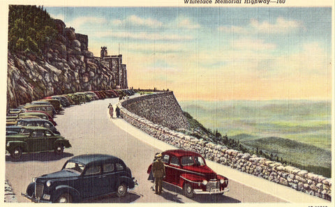 Linen Postcard Front - Whiteface Memorial Highway - Lake Placid,N.Y.