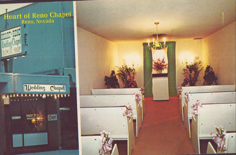 Multi View Post Card-Heart of Reno Chapel-Reno,Nevada