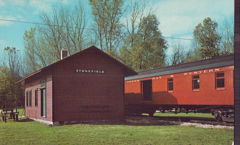 Railroad Depot,Stonefield Village-Cassville,Wisconsin - Cakcollectibles - 1