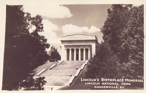 RPPC-Lincoln's Birthplace Memorial,Lincoln National Park-Hodgenville,Kentucky - Cakcollectibles - 1