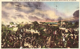 Linen postcard front Battle of San Jacinto from Painting in Texas State Capitol at Austin