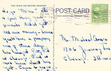Linen postcard back Lake Cena,Pertle Springs - Warrensburg,Missouri