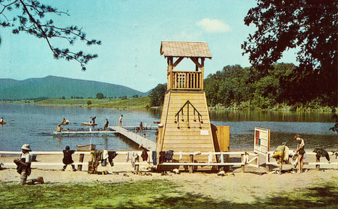 Camp Marriott Waterfront - Goshen Scout Camps - Virginia.Vintage postcard front