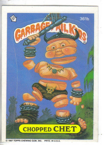Garbage Pail Kids 1987 #361b Chopped Chest Garbage Pail Kids