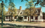 Vintage postcard front.Chowning's Tavern - Williamsburg,Virginia