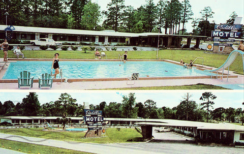 Vintage Postcard front Cadillac Motel - High Springs,Florida