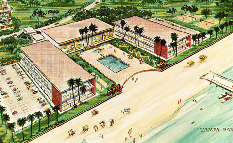 Vintage postcard front Holiday Inn - Tampa - Apollo Beach,Florida