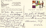 Vintage postcard back Summer House Inn - La Jolla,California