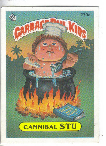 Garbage Pail Kids 1987 #270a Cannibal Stu Garbage Pail Kids