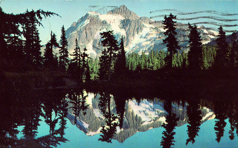 Vintage Postcard Front - Mount Shuksan,Washington