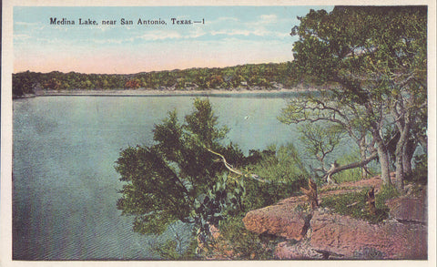 Medina Lake near San Antonio,Texas - Cakcollectibles - 1