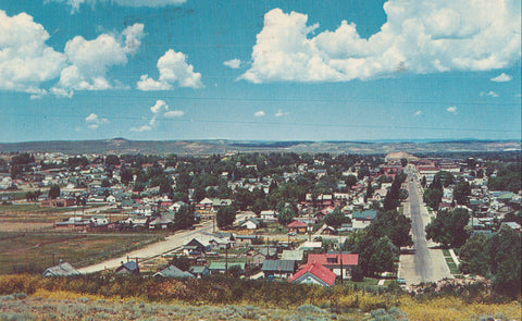Aerial View of Evanston,Wyoming 1962 - Cakcollectibles - 1