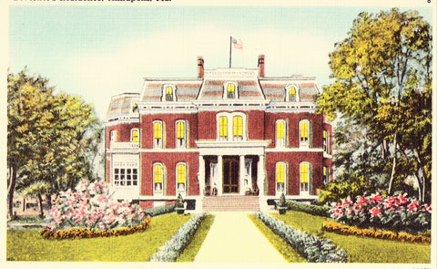 Governor's Residence - Annapolis,Maryland.Linen postcard front