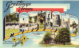 Large Letter Linen Postcard Front - Greetings from Maryland