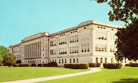 Vintage postcard front.Bolton High School - Alexandria,Louisiana
