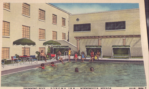 Swimming Pool,Sonoma Inn-Winnemucca,Nevada - Cakcollectibles - 1